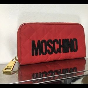 Moschino Red Quilted Wallet